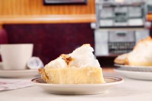 A Slice of our Homemade Coconut Cream Pie